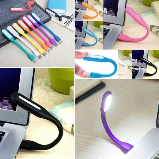 [Pack of 10] Flexible USB LED Light L  for Computer Keyboard Reading Notebook PC Laptop 10 colors